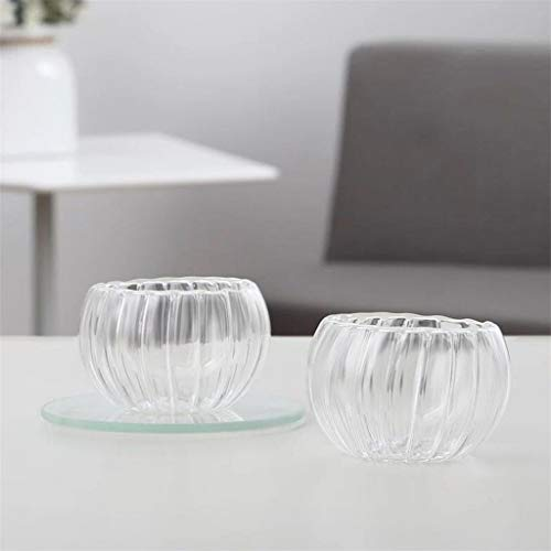 Pumpkin Mug, Squash Coffee Mug, Tuscom 2019 Pumpkin Shaped Double Wall Insulated Glass Mug Clear Glass Thermo Insulated Stackable Mugs Espresso Coffee Cups, 200ML (Clear)