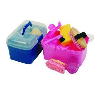 Carmesin Kinder Pferde Putzbox Pony mit 6 - teiligem Inhalt rosa