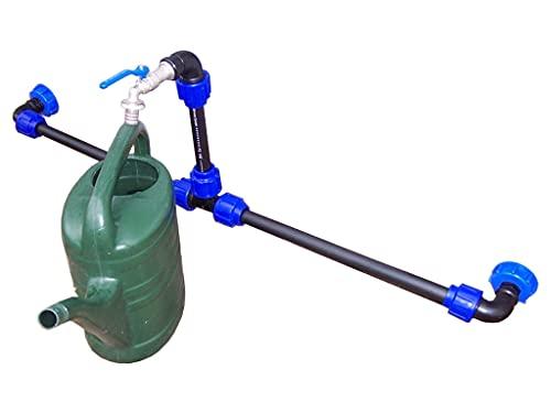 VOXTRADE Verbindungsset für IBC Regenwassertanks mit Schwanenhals (Set für 2-6 Tanks) (2)
