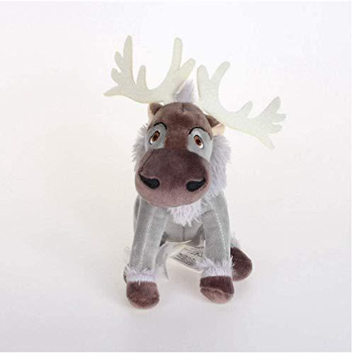 N/D Plush Toys Frozen Elsa Anna Kawaii Anime Sven Reindeer Kristoff Friend Svee Solf for Kids 16 cm