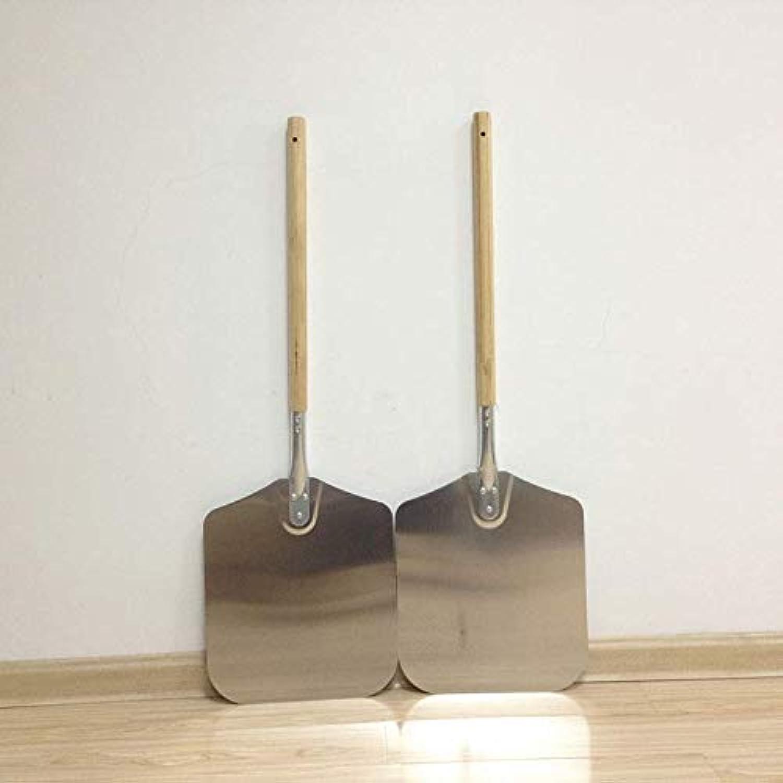 1pc Aluminum Pizza Peel Shovel 66 x 30.5cm Paddle Bread Pie Shovel with Wood Handle Baking Accessory Mayitr