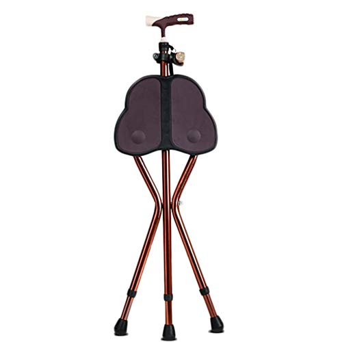 MAGO 3-poot-wandelstok, in hoogte verstelbaar, cane-zitting, opvouwbaar, lichte 3 poten, cane-stok, aluminiumlegering, cane, met led-licht en ergonomische handgreep, uniseks