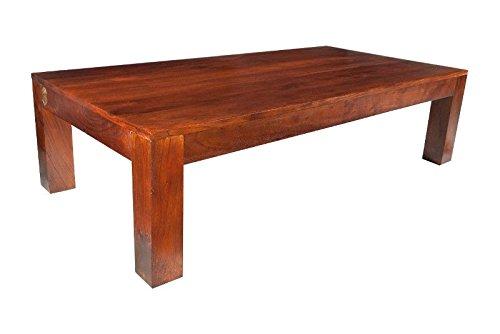 Table basse 120x75cm - Bois massif d'acacia laqué (Nougat) - OXFORD #448