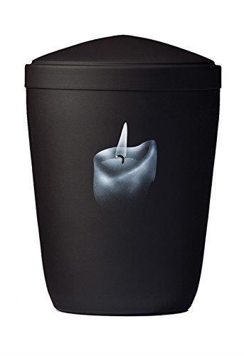 Stalen urn zwart 'Kaars'