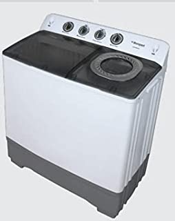 Bompani 13KG Washing Machine Semi Automatic Twin Tube White Model - BWM1350 1 Year Full Warranty.