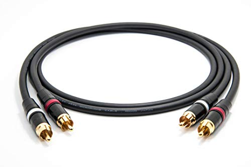Mogami 2534 Quad Stereo Paar (L,R) Audio Kabel | Neutrik Gold Cinch RCA | HiFi, 1,0 m