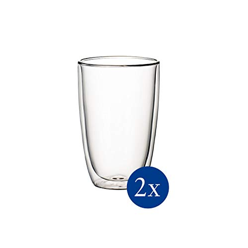Villeroy & Boch - Artesano Hot & Cold Beverages Becher XL Set, 2 tlg., 450 ml (randvoll gemessen), Borosilikatglas, spülmaschinen-, mikrowellengeeignet