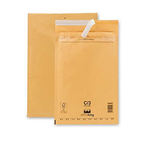 50 Luftpolsterumschläge C3 braun 170x225mm DIN A5 Luftpolstertaschen Verpackung Polsterumschläge Briefumschläge gepolstert