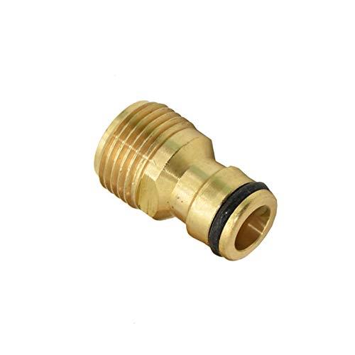 MENGzhuHSA Grado al Aire Libre Hombre 1/2'3/4' Conector rápido Brass Nipple Faucet Adaptador de Pistola de Agua Garden Adaptador de Conector de Grifo 1pcs Conector Conveniente del Grifo (Color : 1I2)