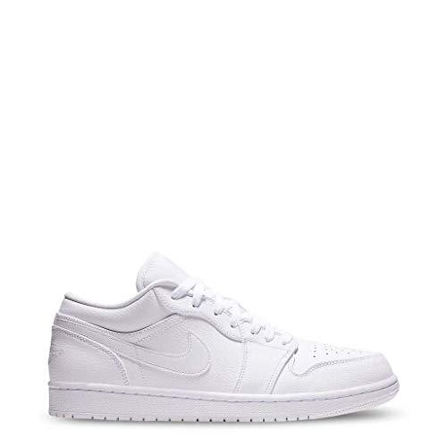 Nike Herren Air Jordan 1 Low Basketballschuhe, Weiß (White/White/White 112), 46 EU