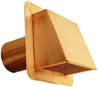 "4"" Hooded Copper Dryer Vent with Damper"