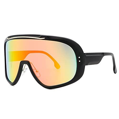 AILINSHA Gafas de Sol Gafas de Ciclismo Polarizadas para Deportes al Aire Libre Eyewear UV400 para Hombres y Mujeres, Montar a Caballo a Prueba de Viento Gafas de sombrilla Orange