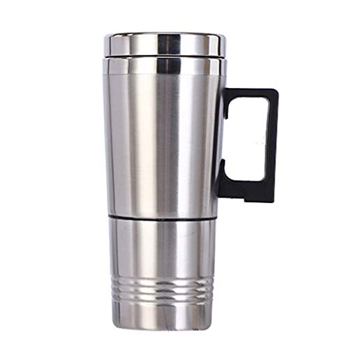 holilest Thermos Cup, Portable Car Heater Travel Mug 12 / 24V Stainless Steel Electric Kettle Thermo-12