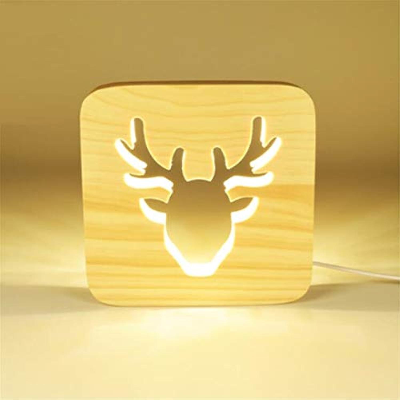 Nachtlicht Tischlampe Schlafzimmer Nachttischlampe Kreative Romantische Nachtlicht Plug-In Fütterung Nachttischlampe Grünrumte Elch Energiesparlampe