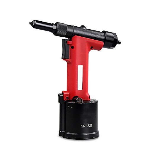 liuchenmaoyi Clavador de Palma SN-821 Pistola de Remache neumática, Clavo de succión automática de Pistola de Remache de Acero Inoxidable de Grado Industrial Martillo neumático