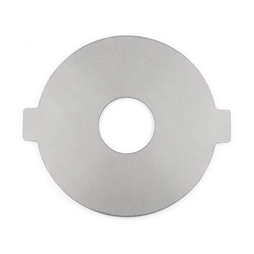blumfeldt Fierce - Plancha para Hoguera, Circular, Móvil, Acero sólido 55 cm Ø, Grosor de 4 mm, Uso Exterior, Dimensiones 63 x 55 x 1,8 cm, Gris