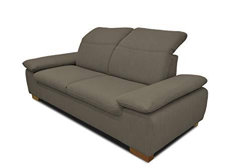 DOMO. collection Maven Sofa, 2,5-Sitzer Couch mit Arm- und Rückenfunktion, Garnitur mit Federkern und Relaxfunktion, beige, 215x110x77