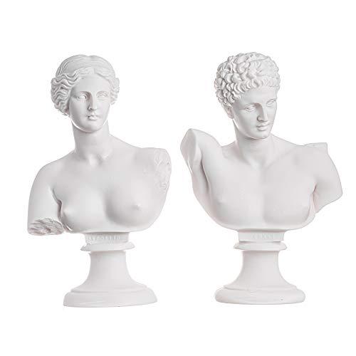 BeautifulGreekStatues Hermes y Afrodita Busto Escultura Mitología Griega Romana Antigua Figurilla Hecha a Mano