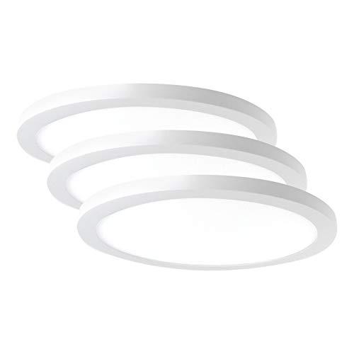 3x Xtend LED Deckenleuchte dimmbar, 24W LED Deckenlampe, Warmweiß Neutralweiß Tageslichtweiß Farbwechsel Rund Modern Panel LED Deckenleuchten Schlafzimmer Küche Wohnzimmer PLm4.0