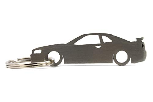 Silhouette Keychain Keyring compatible with Skyline GT-R R34 Key Fob