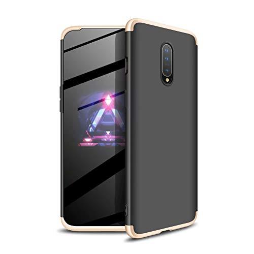 JINCHANGWU compatibel met hoes voor Samsung Galaxy S10 5G, Zwart goud, Oneplus 7