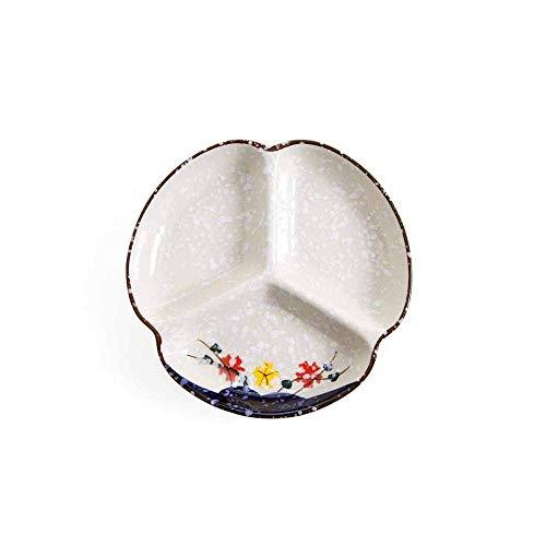 LUISONG FANMENGY - Plato de cena de cerámica, platos de desayuno, bandeja de sushi, platos de cocina, postre y torta, platos de ensalada, vajilla de porcelana