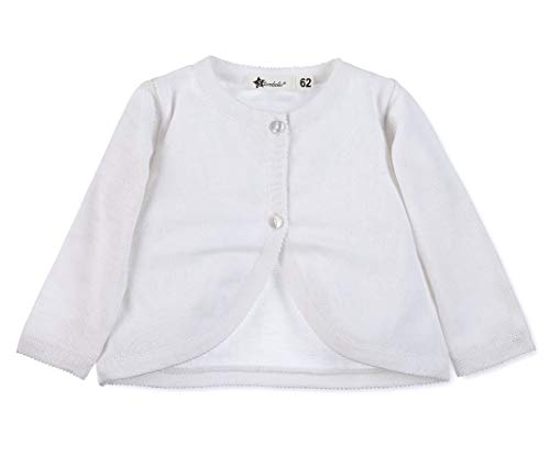 Sterntaler Knitted Jacket Chaqueta, Blanco (Weiss 500), 12-18 meses (Talla del fabricante: 86) para Bebés