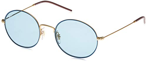 Ray Ban 0RB3594 9113F7 53 brilmontuur, Gold on Top Light Blue, unisex volwassenen