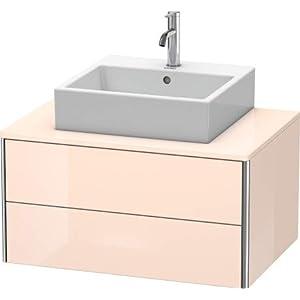 Mueble de Pared Duravit XSquare 80.0 x 54.8 cm, 2 cajones, Color (Frente/Cuerpo): Albaricoque Perla Seda Laca Mate…