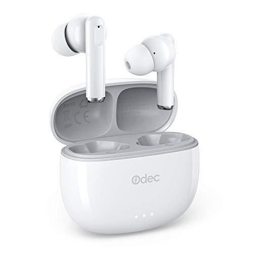 Odec Auriculares Inalámbricos 5.1, Auriculares Bluetooth 5 Sonido Estéreo, Reproducci 20 Horas, Estéreo internos con indicador de batería, Micrófono Incorporado, Control Táctil, IPX5
