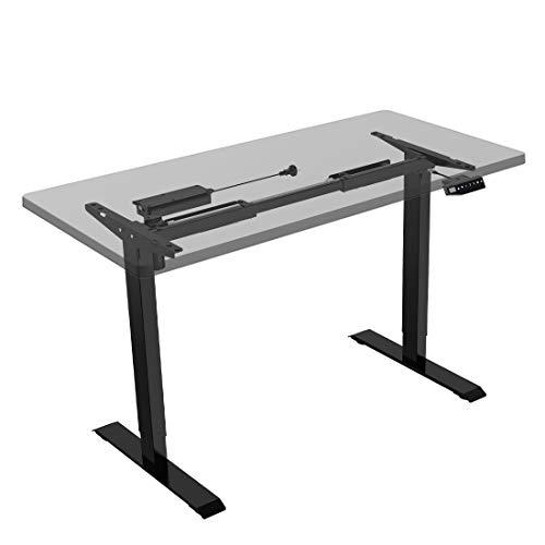 Flexispot E1B Höhenverstellbarer Schreibtisch Elektrisch höhenverstellbares Tischgestell 2-Fach-Teleskop, mit Memory-Steuerung (Schwarz)