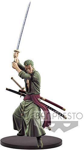 Banpresto37717 – Figurade Anime de Zoro de One Piece, espadachín