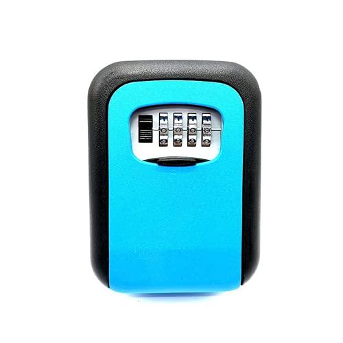 Caja de seguridad para llaves (tamaño: 115 x 90 x 40 mm, color: azul)