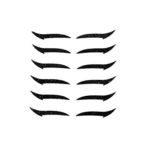 6 Paar Eyeliner Aufkleber-Wiederverwendbare Eyeliner Aufkleber Make-up, Cat Eye Makeup Doppel-Augenlid-Aufkleber, Eyeliner-Tattoo-Aufkleber