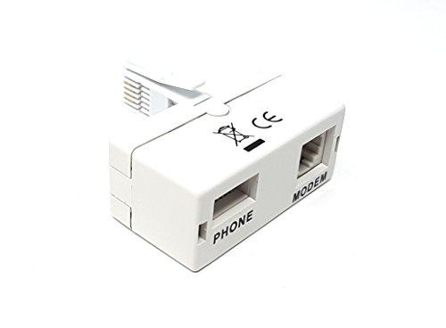 Maincore BT Plug to BT/ADSL zócalo microfiltro microfiltro UK banda ancha módem adaptador de cable divisor para BT/SKY/TALK TALK/teléfono.