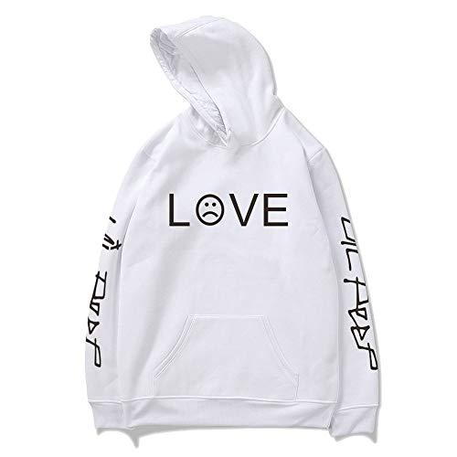 Moletom Unissex Canguru Lil Peep Love Branco (G)