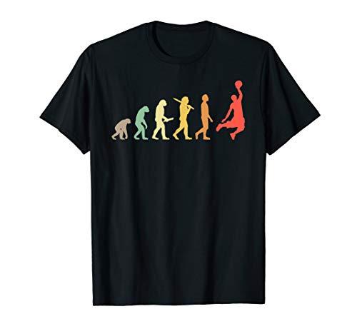 Retro Basketball Evolution Geschenk für Basketballspieler T-Shirt