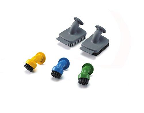 BLACK+DECKER FSMHKA-XJ Set di Accessori per Pulizia Casa 3 spazzoline rotonde, 2 con raschietto compatibili con Sistemi di Pulizia Black+Decker
