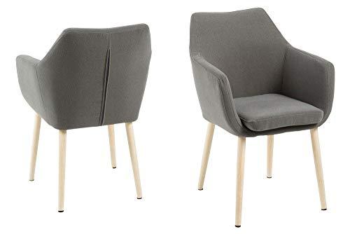 AC Design Furniture Stuhl Nora, B: 58 x T:58 x H: 84 cm, Metall, Grau