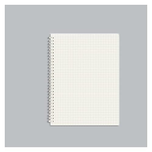 WANGYIYI 2pcs Cuadernos B5 Cuaderno de Doble Bobina de Alambre de Metal Diario de Escritura de Doble Cara Bloc de Notas de Cubierta de PP Transparente Esmerilado para Office Home School