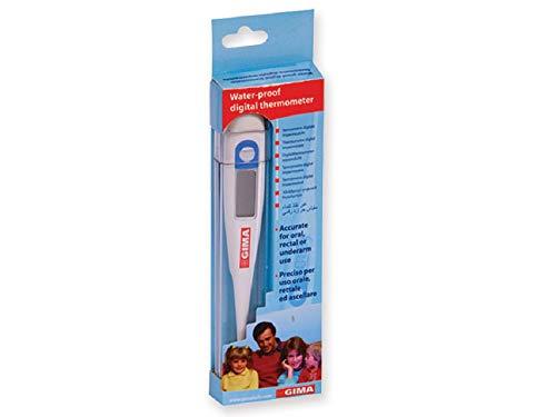 Gima - Termómetro digital WP, °C, impermeable, precisión ± 0,1 °C, memoria para última medición, alarma acústica, apagado automático