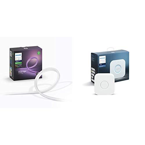 Philips Hue Tira Inteligente Exterior LED 2m + Alimentador, con Bluetooth, (IP67) + Puente de Conexión Controlable vía WiFi, Iluminación Inteligente, Compatible con Alexa y Google Home G14, 9 W