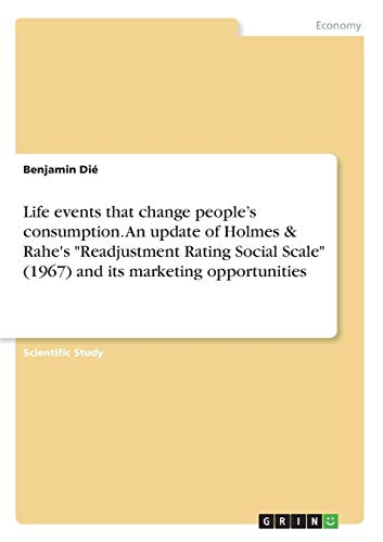 Life events that change people's consumption. An update of Holmes & Rahe's