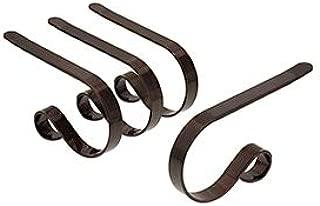 Haute Decor The Original MantleClip Stocking Holder, 4 Pack - Oil-Rubbed Bronze