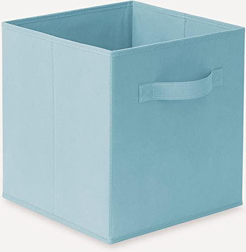 GREATOOL Caja de Almacenaje Plegable, Pack 2 Unidades de 31x31x31cm, Cajas organizadoras en Tela, Caja para organizar Ropa, Juguetes y Sábanas en Armarios (2 Unidades, Turquesa)