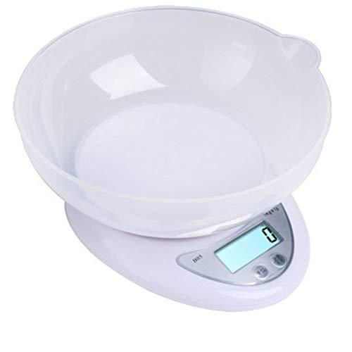 KAR Bilance elettroniche di Alta precisione, bilance da Cucina con scodelle, Mini Monitor LCD elettronici da Cucina, Cottura di Alimenti, ECC. Scala da 0,1 Grammi