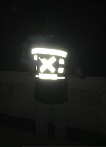 5 Metros (Cinco) extrafuerte reflector banda rayas reflectores warnband reflectantes banda plata termoadhesiva (50 mm de ancho – A Ropa, bolsillos, chaquetas, pantalones, jerséis