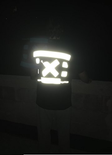 5 meter extra sterke reflecterende band strepen reflectoren waarschuwingsband zilver om op te strijken 50 mm breed - op kleding, tassen, jassen, broeken, truien - veiligheid