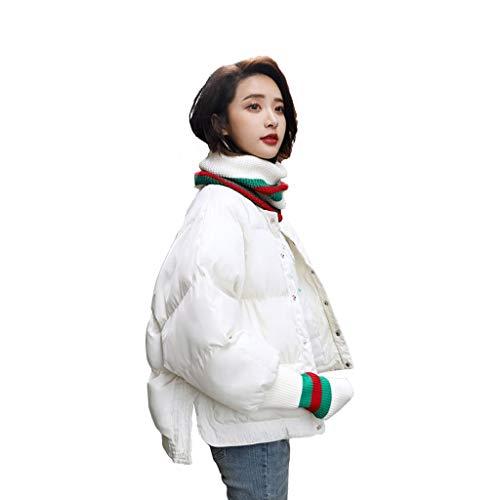 Qifengshop Wintermantel Mode Baumwolle Anzug Neue koreanische Version der Flut Brot Kleid Verdickung kleine Daunenjacke Baumwolle Jacke schwarz und weiß grau Karamell Dicke Baumwollkleidung