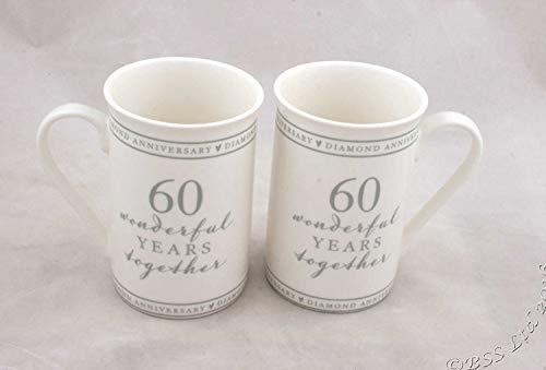 Set di 2 tazze cinesi '60 Wonderful years'